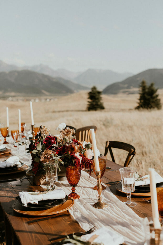 Montana elopment, Montana small wedding, elope in Montana, boho wedding
